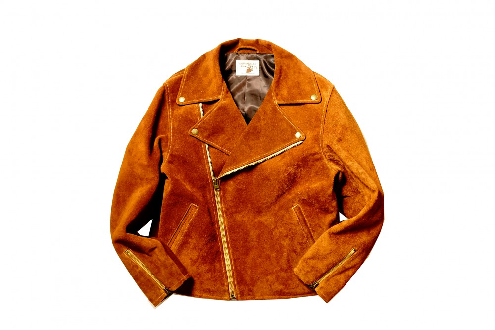 AND FAMILYS - GT Leather Jacket / DUN