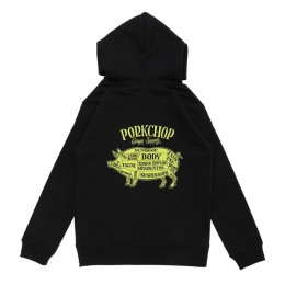 Pork Front Hoodie for Kids / BLACK
