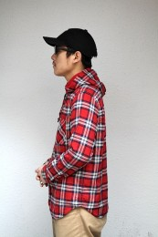 COOTIE - Flannel Check L/S Hooded Shirt