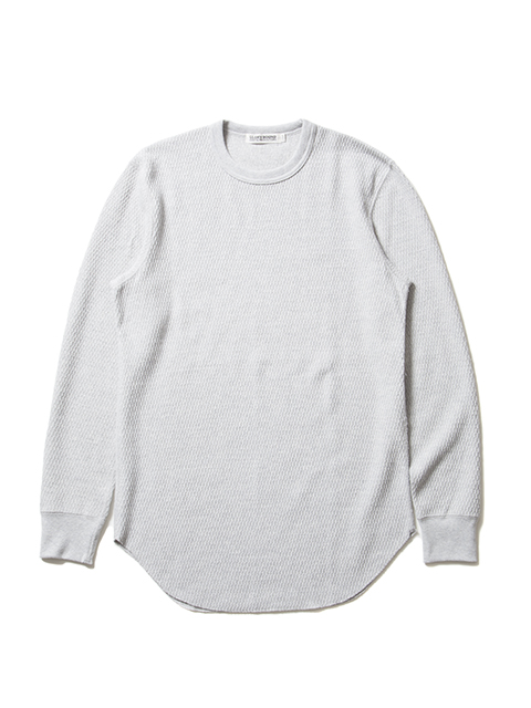 COOTIE -  Curved Hem Honeycomb Thermal L/S Tee