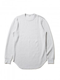 Curved Hem Honeycomb Thermal L/S Tee