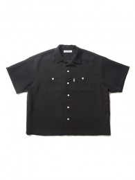 Double Cloth S/S Open Neck Shirt