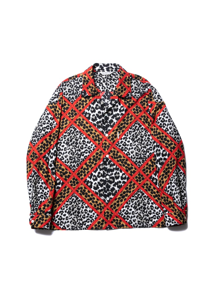 COOTIE - Crazy Leopard Open-Neck L/S Shirt