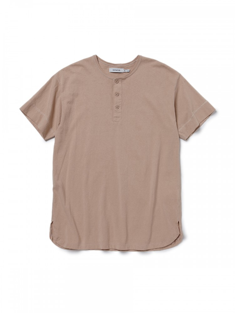 nonnative - Dweller Henley Neck S/S Tee Cotton Jersey HW