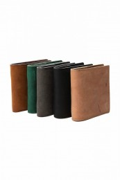 Nuback Cow Leather Bifold Wallet