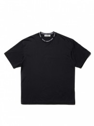 Supima Cotton Jacquard Neck S/S Tee