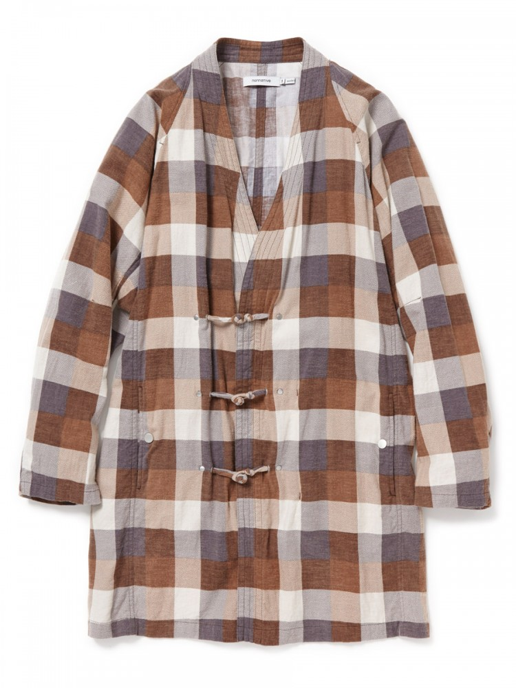 nonnative - Master Coat Cotton Nel Block Check Print
