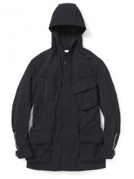 Trooper Hooded Jacket Poly Grosgrain