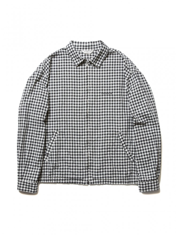 COOTIE - Dobby Gingham Check Drizzler Jacket