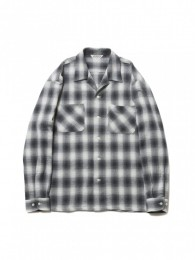 Ombre Check Open-Neck L/S Shirt