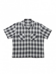 Ombre Check Open-Neck S/S Shirt