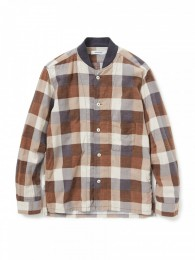 Trainer Shirt Cotton Nel Block Check Print