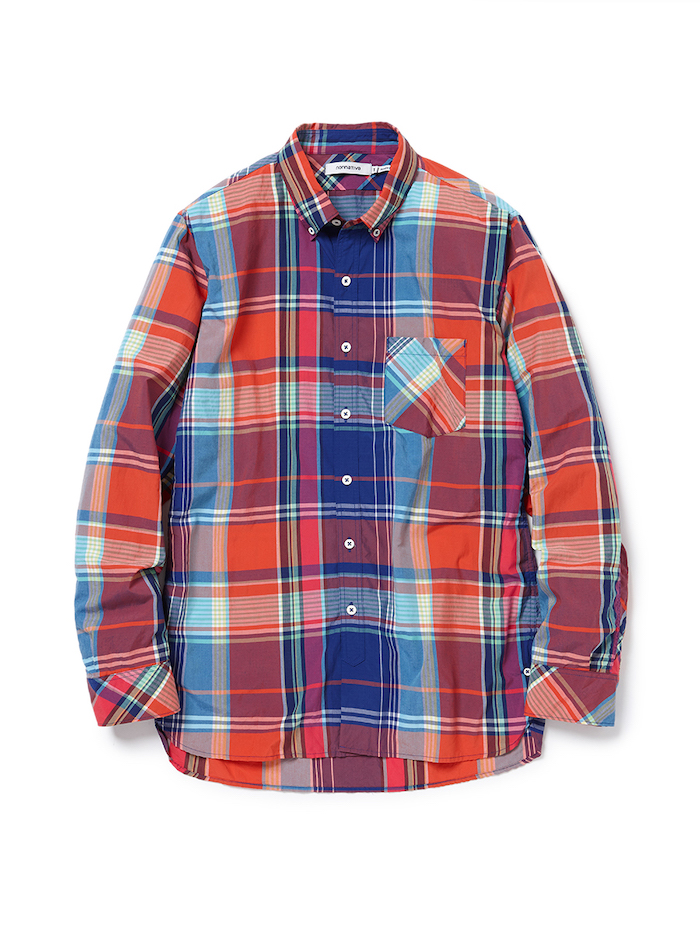 nonnative - Dweller B.D. Shirt R/P Madras Plaid