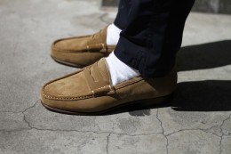 nonnative - Clerk Loafer Cow Suede