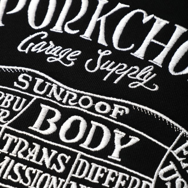 PORKCHOP GARAGE SUPPLY - Pork Front Stitch Sweat / BLACK