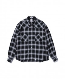 "L/S Omble Check Western Shirt ""PORK"""