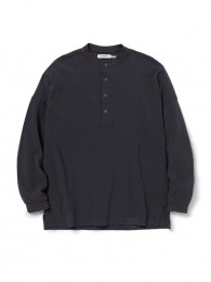 Clerk Henley Neck L/S Tee Cotton Pique