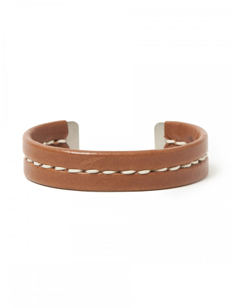 nonnative - Gardener Bangle Brass with Cow Leather