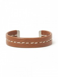 Gardener Bangle Brass with Cow Leather
