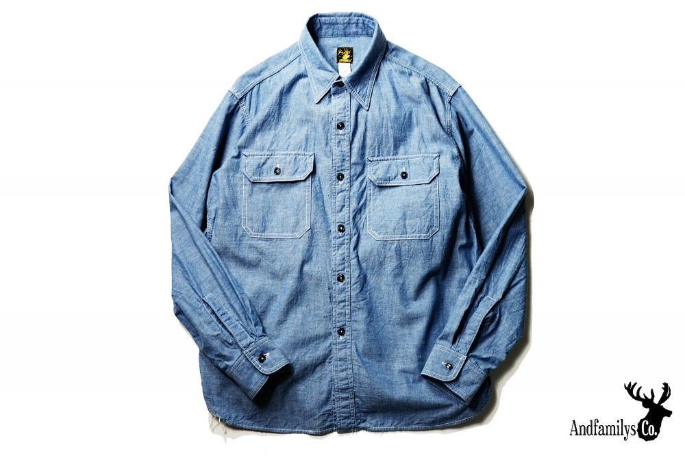 AND FAMILYS - Chambray Work Shirts
