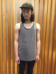nonnative - Dweller Tank Top Cotton Jersey Border