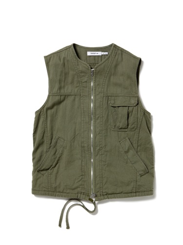nonnative - Driver Vest - Cotton Chino Cloth Vegetable Dyed