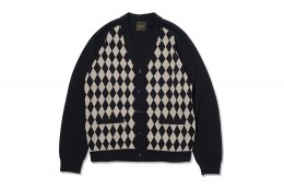 Diamond Pattern Cotton Cardigan