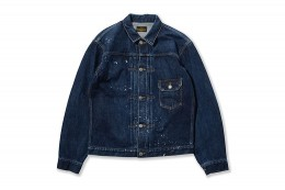 1st Type Used Paint Denim JACKET