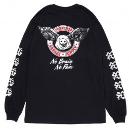 Wing Pork L/S TEE / BLACK