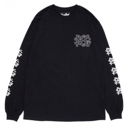 PORKCHOP GARAGE SUPPLY - Wing Pork L/S TEE / BLACK
