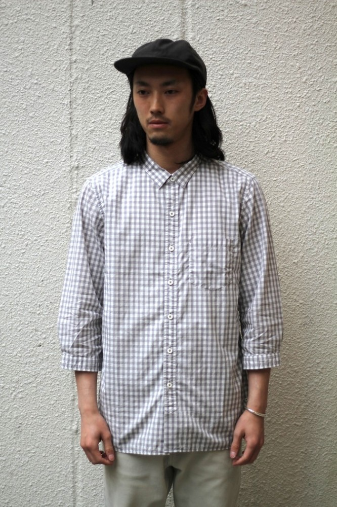 nonnative - Dweller B.D Shirt Q/S Cotton Gingham Check