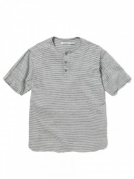 Dweller Henley Neck S/S Tee Cotton Jersey Border