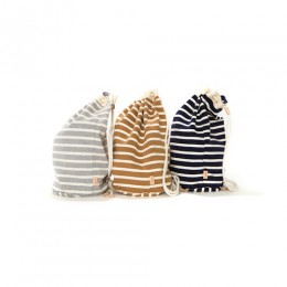Cotton Border Drawstring Bag L