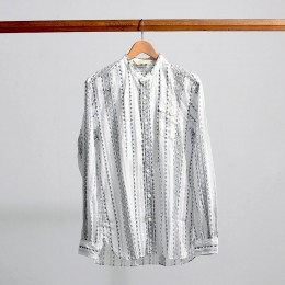 The Stylist Japan - Fork Print Band Collar Shirt