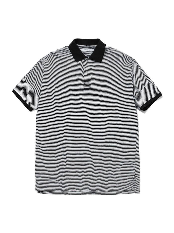 nonnative - Clerk Polo S/S Tee Cotton Jersey Border