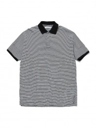 Clerk Polo S/S Tee Cotton Jersey Border