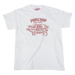 Pork Front TEE / WHITE x RED