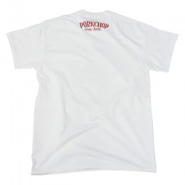 PORKCHOP GARAGE SUPPLY - Pork Front TEE / WHITE x RED