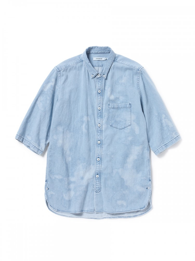 nonnative - Dweller B.D. Shirt S/S Cotton 8oz Denim VW