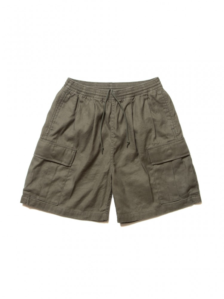 COOTIE - Linen Drawstring Cargo Shorts