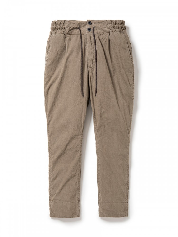 nonnative - Commander Easy Rib Ankle Cut Pants C/N Oxford