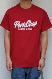 PORKCHOP GARAGE SUPPLY - Script Logo TEE / RED