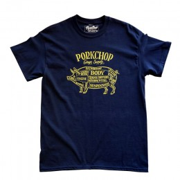 PORKCHOP GARAGE SUPPLY - Pork Front TEE / NAVY x YELLOW