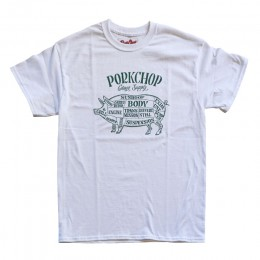 Pork Front TEE / WHITE x GREEN