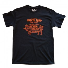 Pork Front TEE / BLACK x ORANGE