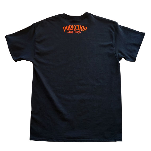 PORKCHOP GARAGE SUPPLY - Pork Front TEE / BLACK x ORANGE