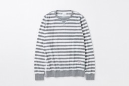 "L/S Border Pile C-Neck Sweat ""LOU"""