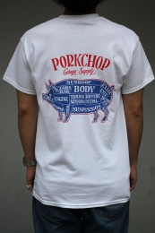 PORKCHOP GARAGE SUPPLY - Pork Back TEE / TRICOLOR