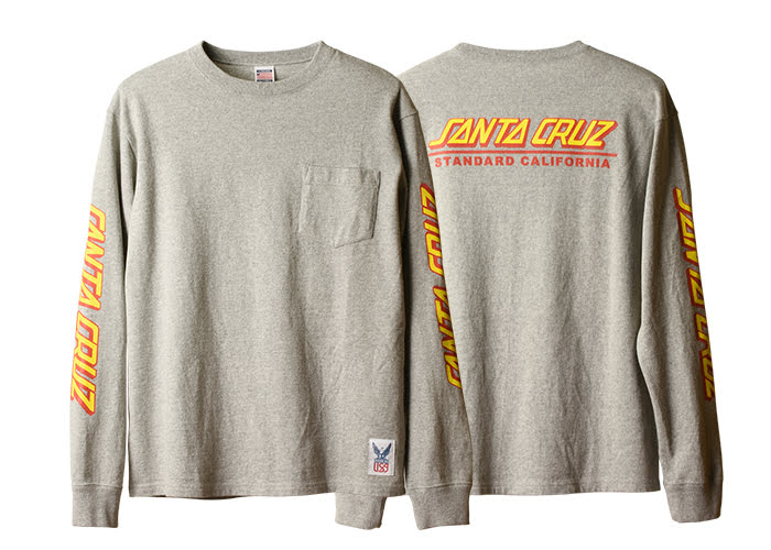STANDARD CALIFORNIA - Santa Cruz x SD Made in USA Heavyweight Pocket LS