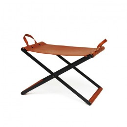 Cow Leather Folding Chair
